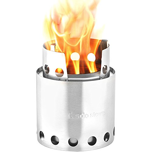 Solo Stove Lite - Portable Camping Hiking and Survival Stove | Powerful Efficient Wood Burning and Low Smoke | Gassification Rocket Stove for Quick Boil | Compact 4.2 Inches and Lightweight 9 Ounces