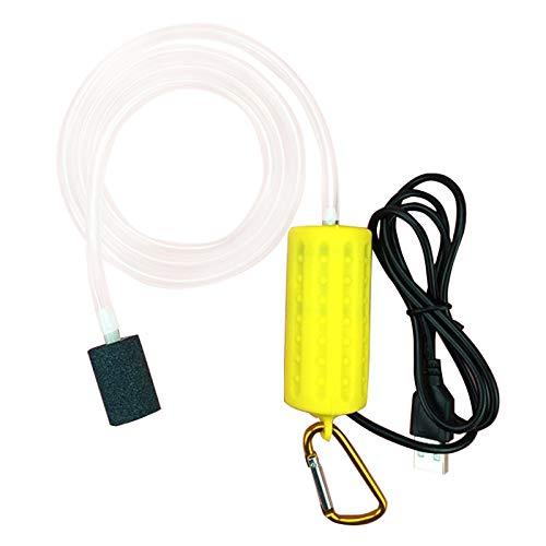 Kaxofang Bomba De AireacióN USB Bomba De Aire Aireador De Acuario Ultra Silencioso Bomba De Oxigeno De Pesca De Pecera ——Amarillo