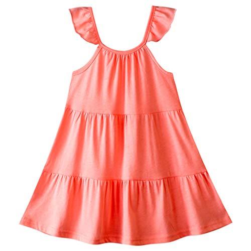 Kleinkind Mädchen Mode Solide Rüsche Straps Kleid Outfits Kleider