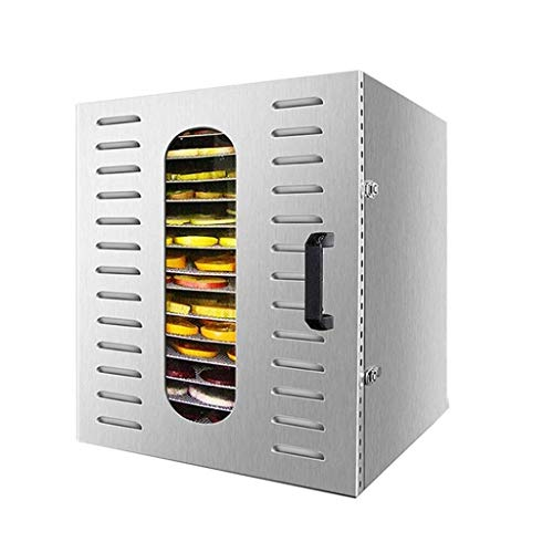Best Deals! Fruit dryer Large Stainless Steel Food Dehydrator Commercial Grade 20-Layer Pallet Capac...
