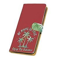 PU手帳型 カードタイプ スマホケース ZenFone Max Plus M1 (ZB570TL) 用 パームツリー・レッド マリン サマー 迷彩柄 ASUS エイスース ゼンフォン マックス プラス エムワンSIMフリー スマホカバー 携帯ケース スタンド tree 00l_148@03c