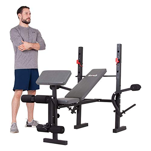 Body Champ Standard Weight Bench, Exercise and Weightlifting Bench, Adjustable Incline Seat
