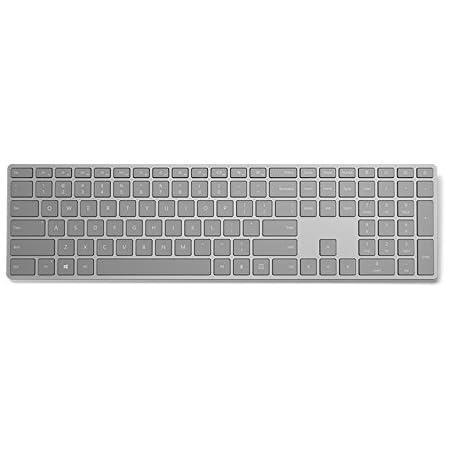 Microsoft Teclado moderno con ID de huella digital Gris