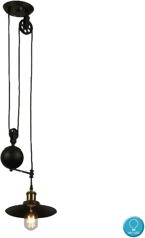 Retro Decken Hnge Lampe Wohn Zimmer FILAMENT Dimmer Pendel Leuchte im Set inkl. LED Leuchtmittel