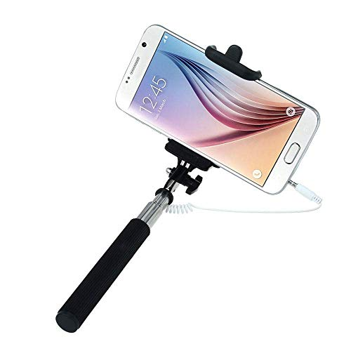 King Shine Compact Pocket Size Selfie Stick Wired for Android   Selfie Stick for Mobile Phones – Multicolor