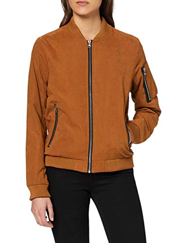 Urban Classics Ladies Peached Bomber Jacket Chaqueta, Marrón (Toffee 786), L para Mujer