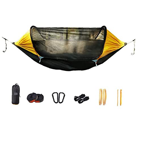 Camping Hammock Parachute Bug Net con Carabiners Hammock Mosquito Bug for Backpacking Travel