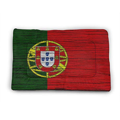 Medium Dog Bed Mat Wasbaar Krattenmatras 35 Inch Niet Slip Huisdier Kussen Pad Portugal Kaart Portugese Vlag, 40