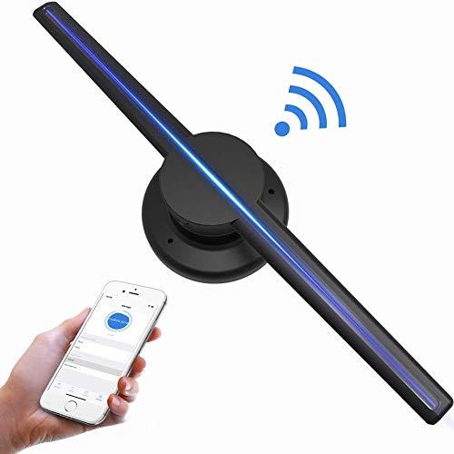 Bewinner 3D holographischer Projektor, 3D Hologramm-LED-Ventilator Custom Videos/Bilder Werbung Projektor WIFI/TF-Karte 3D holographisches LED-Display Projektor Ausstellung Messewerbung 2#