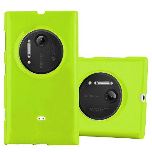 Cadorabo Custodia per Nokia Lumia 1020 in Jelly Verde - Morbida Cover Protettiva Sottile di Silicone TPU con Bordo Protezione - Ultra Slim Case Antiurto Gel Back Bumper Guscio