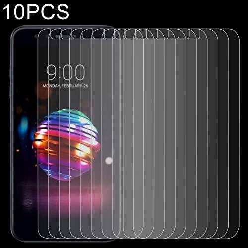 Dongdexiu Protectores de Pantalla de telefonía sólida 10 PCS 0.26mm 9H 2.5D película Protectora de Vidrio Templado for LG K10 (2018)
