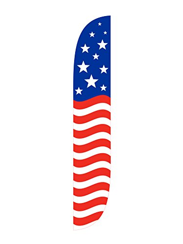 LookOurWay American Glory Feather Flag, 12-Feet, Red