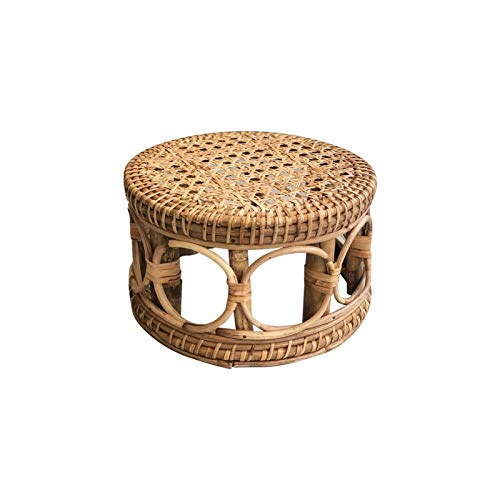 Hollewe Indoor Rattan Plant Stands, Modern Boho Wicker Side Table For Gardening, Interior Decoration, Living Room, Entrance And Any Other Places, Natural