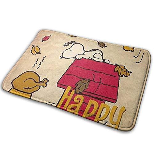 """GOU39-WCT Bienvenido Alfombrillas Felices Acción de Gracias Snoopy Alfombrillas para Interior Alfombras de Entrada Alfombrillas Antideslizantes de Goma 15.8""""X23.6 Pulgada"""