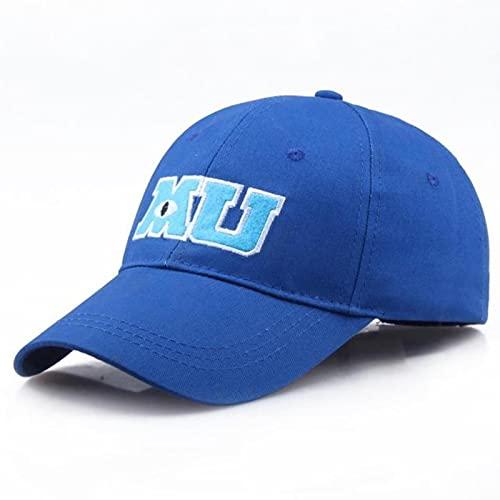 UKKO Gorra de béisbol Letras Bordado Gorra De Béisbol Azul Sombrero De Una Pieza Gorras De Béisbol Sombreros Solos-Blue