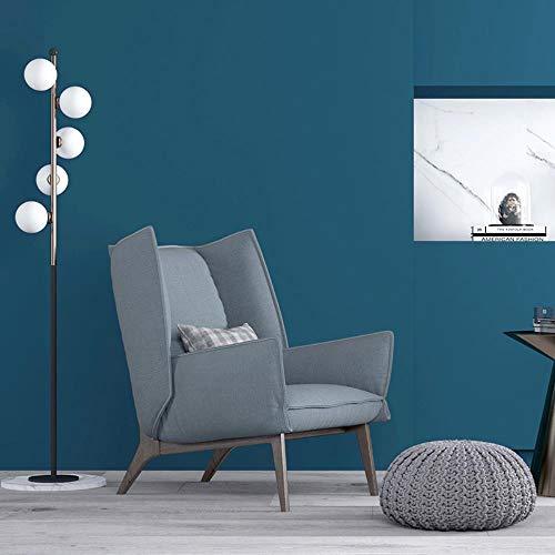 Aodaili Papel Pintado Liso No Tejido Moderno Minimalista Dormitorio Sala Fondo Pared Papel, Azul Añil