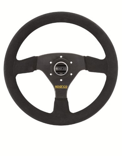 Where To Buy Sparco R323 Steering Wheel 350mm 13 78 Inches Black Suede With Black Spokes