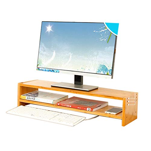 JCNFA Planken Computer Monitor Stand Desktop Opslag Rack Storage Management Rack Computer Stand Organizer Met Lade