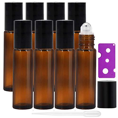 Alledominio, 8 botellas de 10 ml de aceites esenciales, botellas de vidrio...