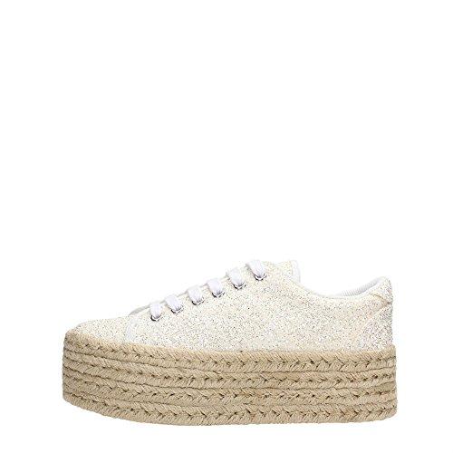 Sneaker bassa JC Play by Jeffrey Campbell Zomg in glitter bianco, Bianco, 40