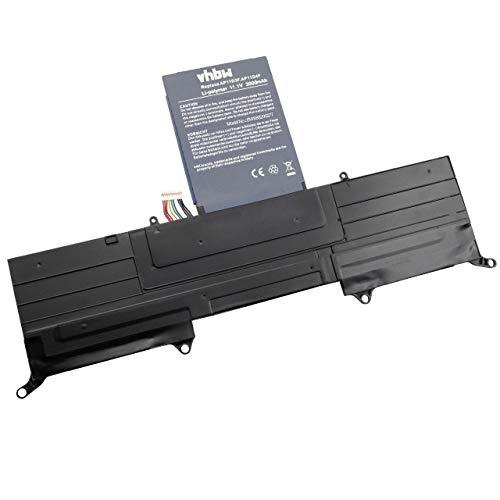 vhbw Li-Polymer battery 3000mAh (11.1V) black for laptop notebook replaces Acer 3ICP5/65/88, 3ICP5/67/90, AP11D3F, AP11D4F, AP13J4K