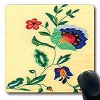 マウスパッド作業ウクライナ民俗手仕事刺繍長方形7.9 X 9.5インチ長方形ゲームマウスパッド滑り止めラバーマット