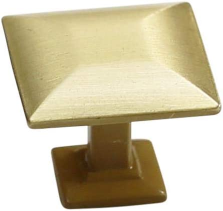 Japan Maker New 10 Pack - Hamilton Bowes Satin Brass Hardware Cabinet Kno Square Max 83% OFF