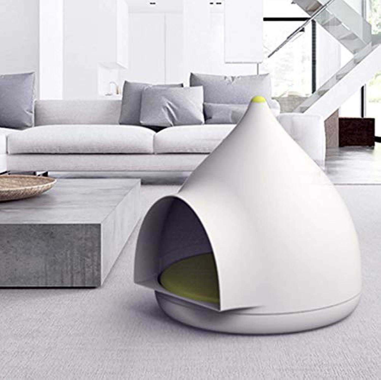 FidgetFidget Bed Pet Puppy Dog Cat Soft White House Cat House 50×50×52cm