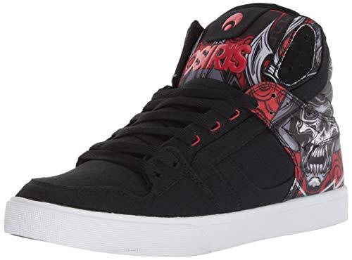 Osiris Herren Clone Skate Schuh, Mehrere (Huit/Samurai/Rot), 41 EU