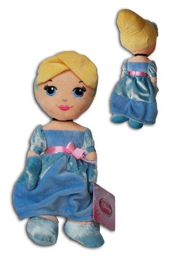 Aschenputtel 30cm Plüsch Cinderella Disney Princess Weich Puppe Blonde Blauen Kleid