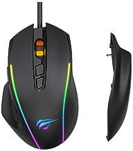 Mouse Gamer RGB Havit MS1011 Programável por software 8 Teclas 1200-1600-2400-3200-4800-7200 DPI Paineis Laterais Removíveis