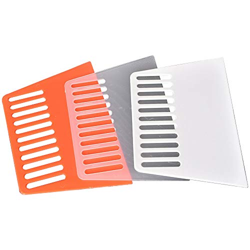 (3-Pack) Griver 7-inch Wallcovering Smoothing Tool,Wallpaper Smoother Scraper,Flexible Plastic (3-Pack/Transparent Color)