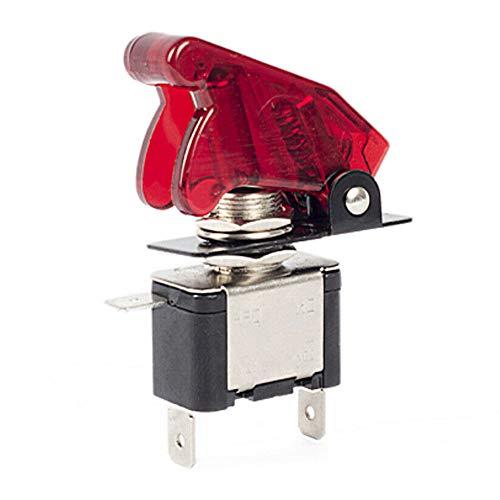 Interruptor basculante 12 V 20 A luz LED con cubierta impermeable para coche, camión, barco, motocicleta, ASW-07D, color rojo