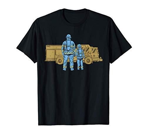 Padre bombero Padre bombero Hijo Día del Padre Camiseta