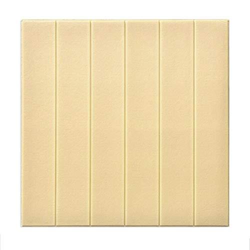 LRZS Wandpaneel Selbstklebende, Wandpaneele Abnehmbarer 3D Slate Brick Wallpaper Peel and Stick for TV-Wand Sofa Hintergrund Wand-Dekor 70 x 70cm (Color : Beige, Size : 10pcs)