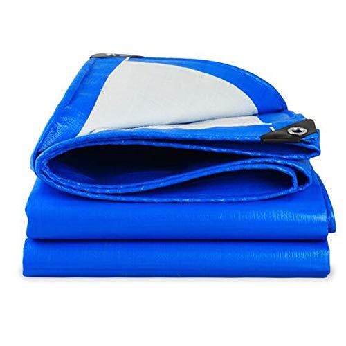 QY Lona De Lona Resistente Ojales Reforzados Lona De PE Gruesa Lona De Lona Azul Impermeable Lona De Tela Impermeable Lona De Jardín Toldo Exterior Vela De Sombra(Size:4x5m)