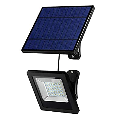 Hikeren Solar Lights Outdoor, IP65 Waterproof Solar Lights(White Light), 30 LED Spotlight, Easy-to-Install Security Lights for Front Door, Yard, Garage, Deck