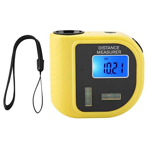 Ultrasone afstandsmeter, draagbaar meetapparaat, afstandsmeter, meetafstand 0,5 m tot 18 m, oppervlakte- en volumeberekening, met gebruiksaanwijzing, hoge precisie