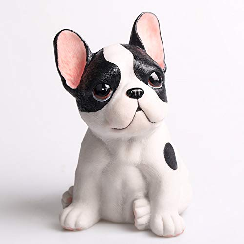 Stephen Statues & Sculptures - french bulldog statue simulation animal cute dog home decoration accessories for living room l3016 1 PCs