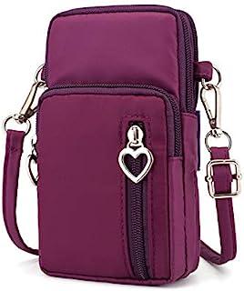 Cecety TM Small Women Crossbody Phone Purse Wallet Wrist Bag Forearm Band for Galaxy S10 Plus / S10 / J8 / J7 Prime 2 / J7...