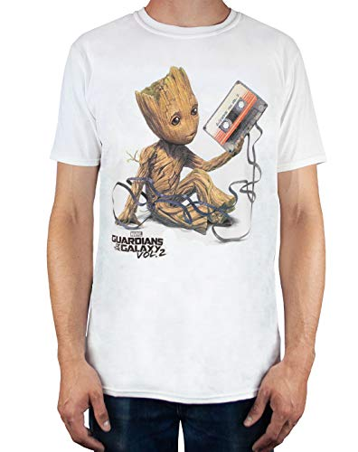 Guardians of the Galaxy Vol 2 Groot Tape Men's T-Shirt (L)
