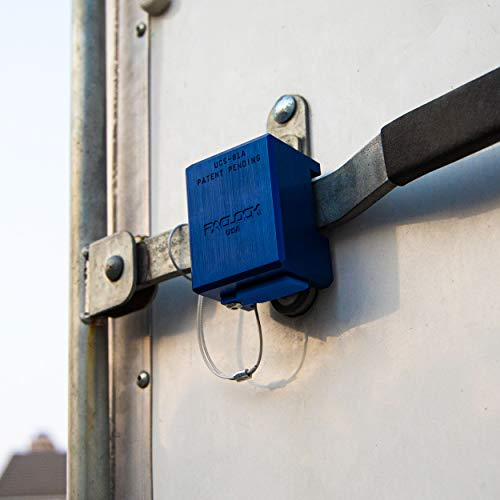 PACLOCK's UCS-81A Trailer Lock, Buy American Act Compliant, Blue Anodized Aluminum, High Security 6-Pin Cylinder, One Lock Keyed to a Number U-Pick! w/ 2 Keys, Hidden Shackle