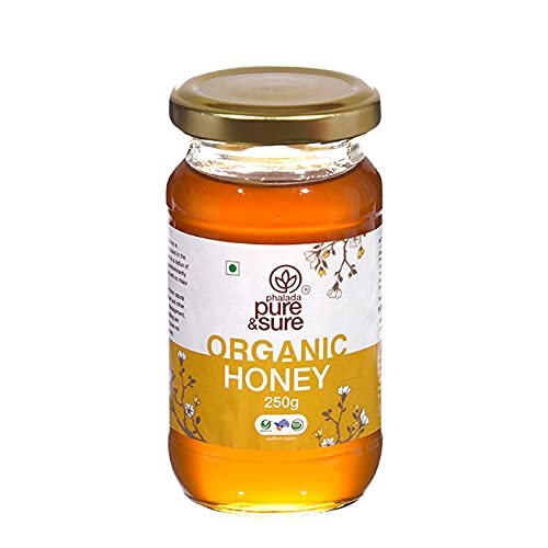 Pure & Sure Organic Natural Honey   Unflavored, Rich & Natural Organic Honey, 250g.