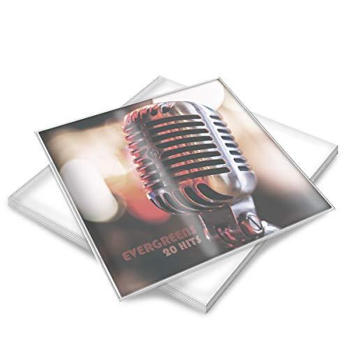 """kwmobile 100x Fundas para discos de vinilo - Set de cubiertas exteriores para vinilos de 12"""" - Fundas transparentes de 0.5MM de grosor para LPs"""