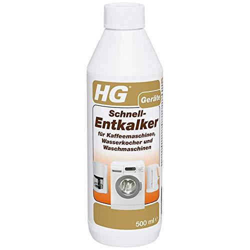 HG Schnell-Entkalker 2er pack (2x 500 ml) – Entkalker für Waschmaschinen, Wasserkocher und Kaffeemaschinen