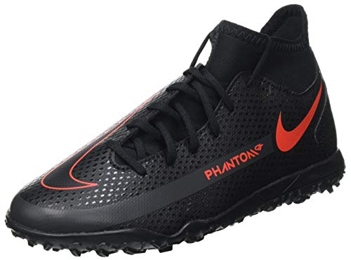 Nike JR Phantom GT Club DF TF, Scarpe da Calcio Bambino, Black/Chile Red-Dk Smoke Grey, 34 EU