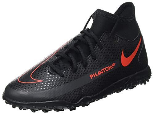 Nike JR Phantom GT Club DF TF, Scarpe da Calcio Bambino, Black/Chile Red-Dk Smoke Grey, 36.5 EU