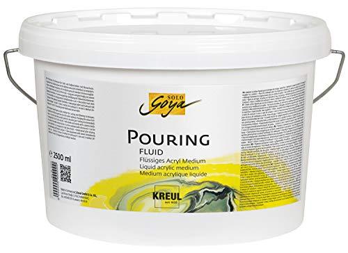 Kreul 87215 - Solo Goya Pouring Fluid, 2500 ml Eimer, flüssiges Acrylmedium für Gieß- und Fließtechniken, auf Wasserbasis, optimiert das Fließverhalten von Acrylfarben