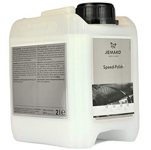 Jemako Speed-Polish im 2 l-Kanister entfernt schnell Verunreinigungen wie Wasserflecken, Pollen oder Staub