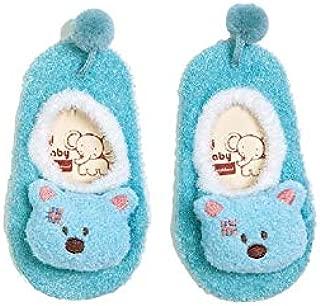 Lovely Socks Children Cotton Socks Kids Spring and Autumn Cotton Anti-Slip Floor Socks (Blue) Newborn Sock (Color : Blue)